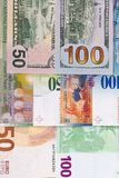 100 and 50 euro dollar, swiss franc background. 100 and 50 euro dollar, swiss franc background Stock Photos