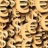 Euro dollar symbol patten Royalty Free Stock Images