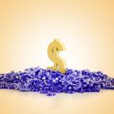Euro and Dollar symbols background Royalty Free Stock Image