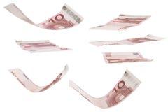 Euro dollar tien stock afbeelding