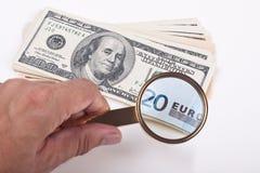 Euro dollaro Fotografie Stock Libere da Diritti