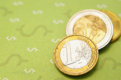 Euro and dollars Royalty Free Stock Photography