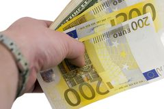 Euro-Dollars Royalty Free Stock Image