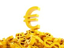 Euro and dollars stock photos
