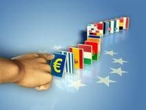 Euro- dominó Imagens de Stock