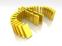 Euro- dominó ilustração stock