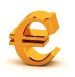 Euro dorato Fotografia Stock