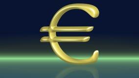 Euro dorato commovente stock footage