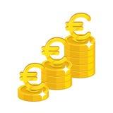 Euro dorośnięcie sterta Zdjęcia Stock