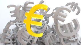 Euro dourado Imagens de Stock Royalty Free
