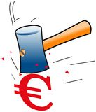 Euro down Royalty Free Stock Photography