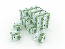 Euro dozen in stapel Stock Afbeeldingen