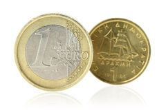 Euro or Drachma Royalty Free Stock Images