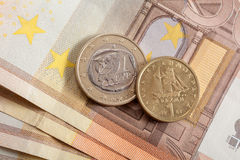 Euro or Drachma Stock Photos
