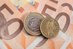 Euro or Drachma Royalty Free Stock Image