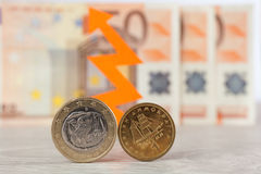 Euro or Drachma Stock Photo