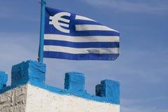 Euro drapeau grec Photo stock
