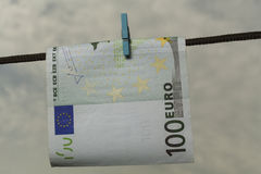 Euro Drying Royalty Free Stock Photography