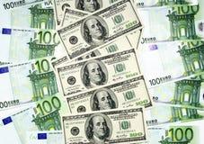 euro du dollar Photo stock