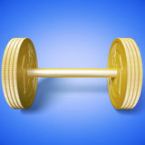 Euro dumbbell blue Stock Photography