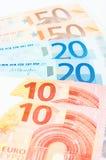 10 euro 20 e 50 Imagem de Stock Royalty Free