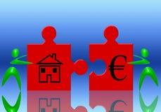 Euro e casa Immagine Stock Libera da Diritti