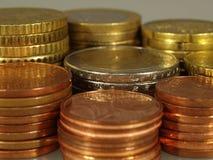 Euro e centesimo Immagini Stock