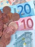 Euro e centesimo Fotografia Stock