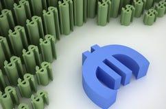 Euro e dólar Fotografia de Stock Royalty Free