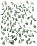 Euro e dollari di caduta Immagine Stock Libera da Diritti