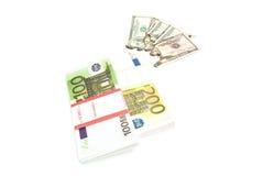 Euro e fatture bruciate Immagine Stock Libera da Diritti