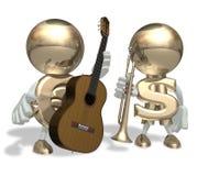 EURO e guitarra Fotografia de Stock