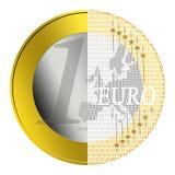 Euro- e-pagamento Foto de Stock Royalty Free