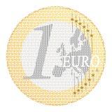 Euro- e-pagamento ilustração stock