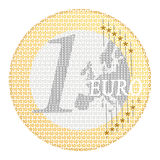 Euro e-payment stock photography
