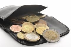 Euro e portafoglio Fotografie Stock