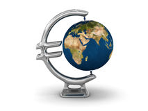 Euro Earth globe Stock Photography