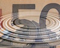 Euro ecconomy ripples Royalty Free Stock Photo
