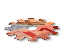 Euro economy cogwheel Royalty Free Stock Image