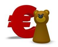 Euro ed orso Immagine Stock
