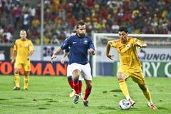 Euro-Eignung-Umlauf 2012 (Gruppe D) Rumänien-Frankreich Stockbilder