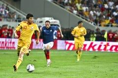 Euro-Eignung-Umlauf 2012 (Gruppe D) Rumänien-Frankreich Lizenzfreie Stockfotografie