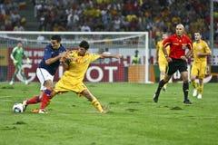 Euro-Eignung-Umlauf 2012 (Gruppe D) Rumänien-Frankreich Lizenzfreies Stockfoto