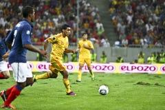 Euro-Eignung-Umlauf 2012 (Gruppe D) Rumänien-Frankreich Stockbild