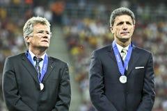 Euro-Eignung-Umlauf 2012 (Gruppe D) Rumänien-Frankreich Stockfotos