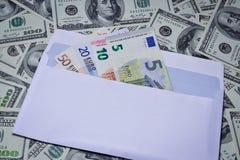 Euro in einem Umschlag Stockfoto