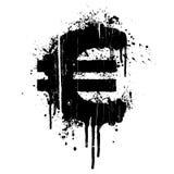 Euro elemento di disegno dello splatter Fotografia Stock