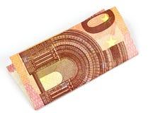 10 euro em um fundo branco Fotos de Stock Royalty Free