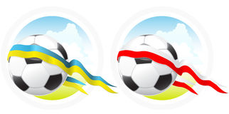 Euro- emblema do futebol Fotografia de Stock Royalty Free