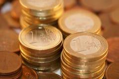 Euro en cent Royalty-vrije Stock Afbeeldingen